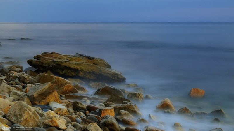 море камни вода вечер лето ***photo preview