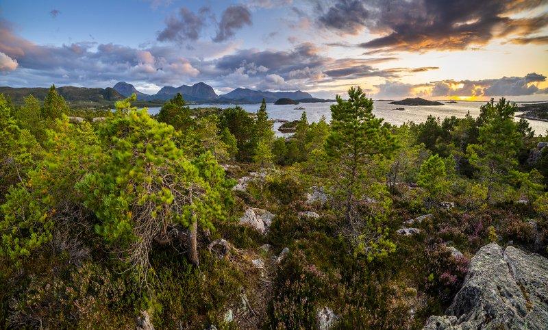 норвегия, закат Северphoto preview