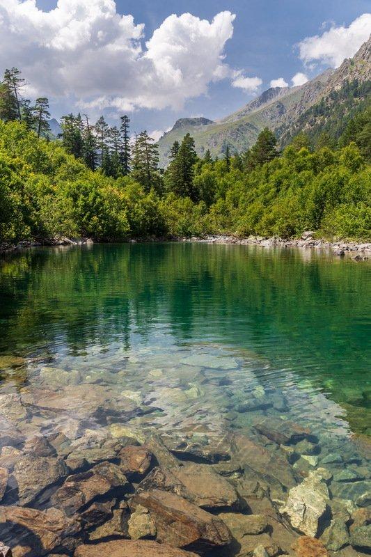 lake, landscape, travel, dombai, домбай, озеро, пейзаж Озеро в горахphoto preview