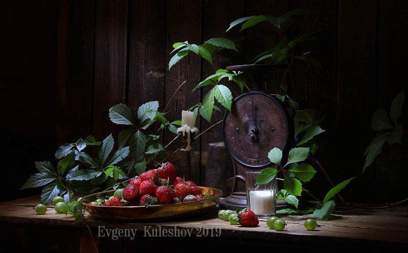 клубника, ягоды, весы, натюрморт, евгений кулешов, кулешов, Клубничная зарисовкаphoto preview