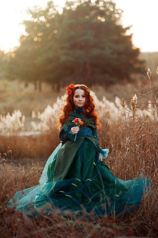 осень, рыжая девочка, осенний портрет Арина и осеньphoto preview