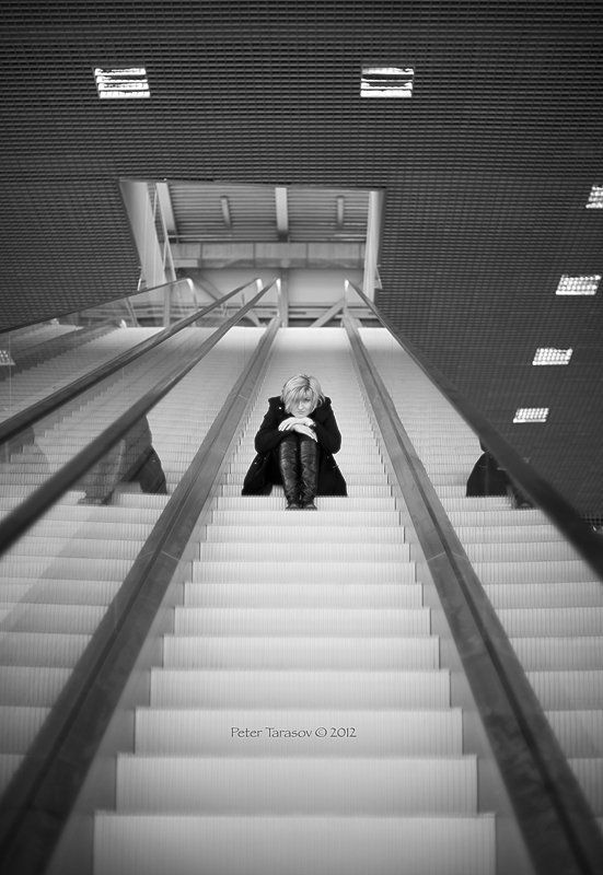 woman, girl, elevator Elevatorphoto preview