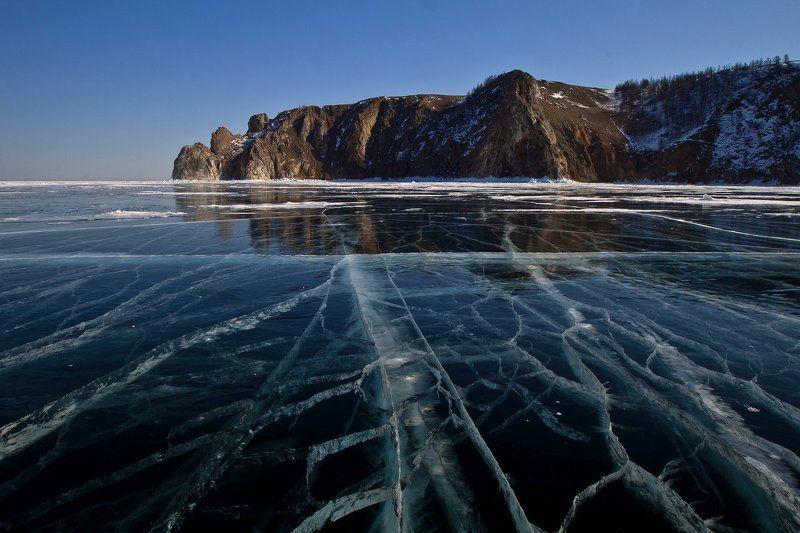 байкал, лед, ольхон,  мыс саган хушун, три брата Прогуливаясь вдоль Ольхонаphoto preview