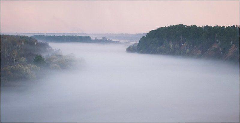 туман, апрель, ветлуга, россия И снова туманphoto preview