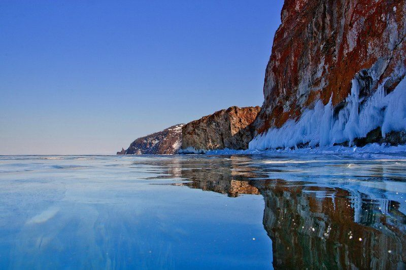 байкал, ольхон, хобой, лед На пути к Хобоюphoto preview