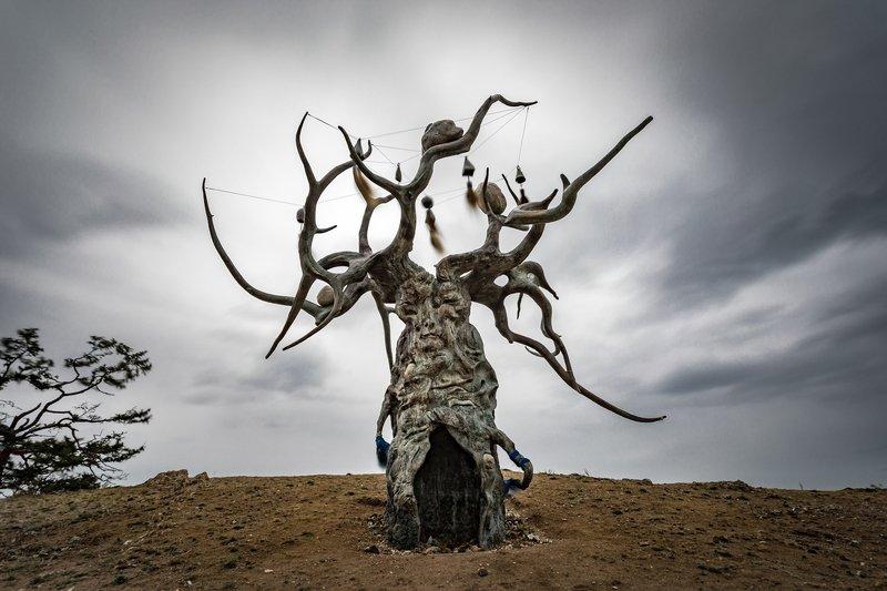 озеро, байкал, остров, ольхон, монумент, хранитель, дерево Хранитель Байкалаphoto preview