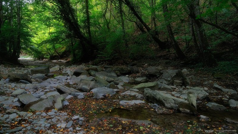 река горы скалы лес осень природа пейзаж Осення прогулка по речке Тхабphoto preview