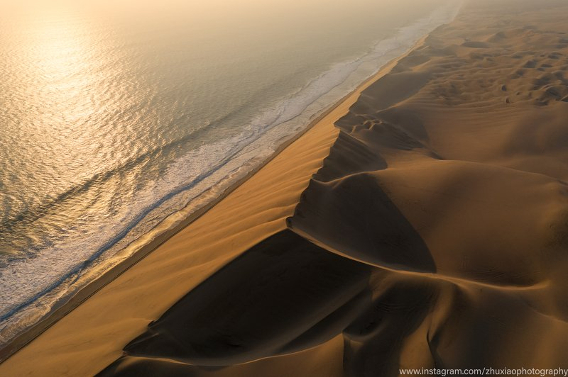 Namibia Sand dunes and seaphoto preview
