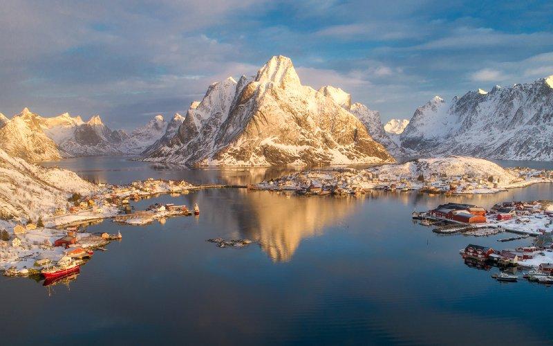 lofoten, norway Bird\'s Eye View Of Norwayphoto preview