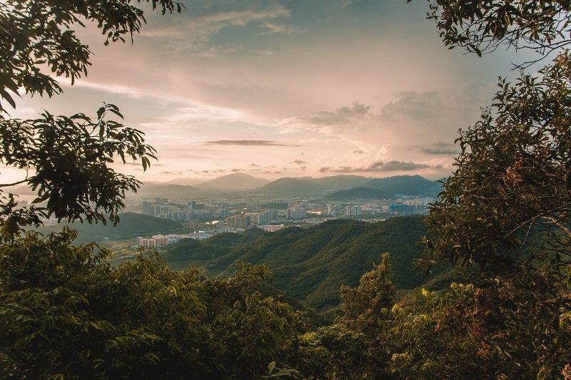 китай, хайнань Закат в Китаеphoto preview