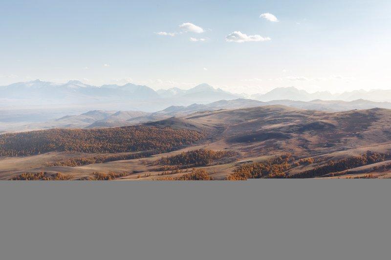 природа, пейзаж, закат, алтай, горы, осень Бесконечные просторыphoto preview