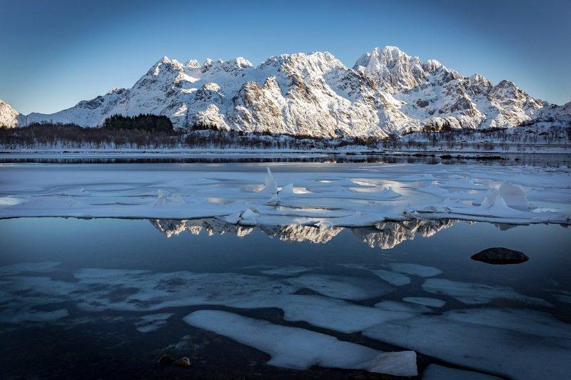 ice, lake, reflection, landscape, travel, water Льды и отраженияphoto preview