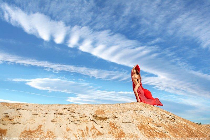 михаилсеменов, аквалайт, ню, вкрасном, девушка, милая, модель, радостьлета, небо Лето прощай!photo preview