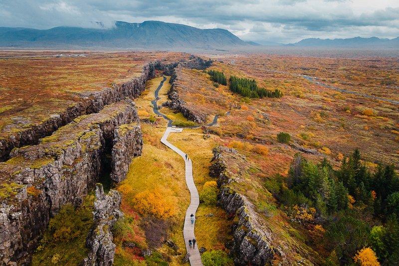 осень, исландия, мавик, каньон, горы, iceland, travel, aerial, mavic, air Осень в Исландииphoto preview