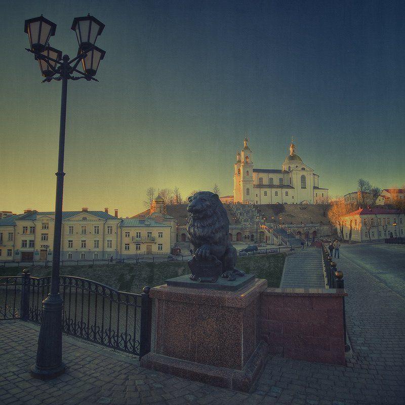 лев, витебск, церковь, фонарь, мост | Lion |photo preview