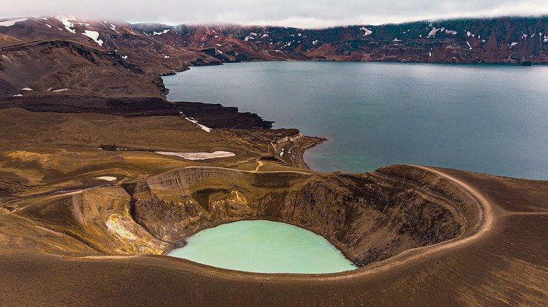 iceland, volcano, askja, lake, исландия, вулкан, аскья, озеро [askja]photo preview