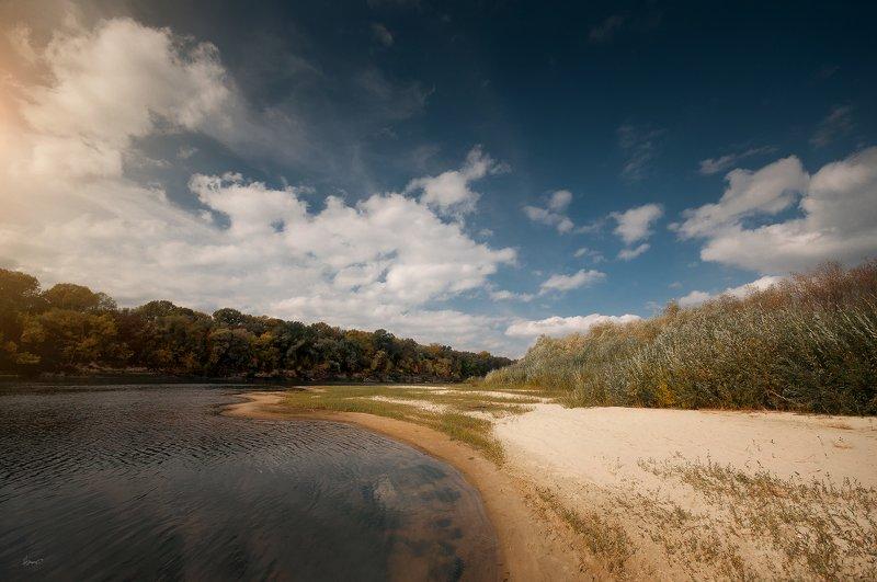 лето берег река линииphoto preview