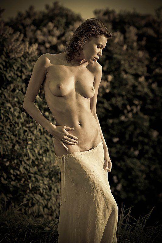 модель, ню В лучах уходящего солнца....photo preview