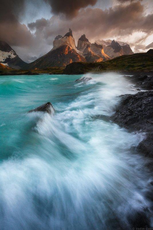 патагония, чили, patagonia, torresdelpaine, торресдельпайне Lago Pehoephoto preview