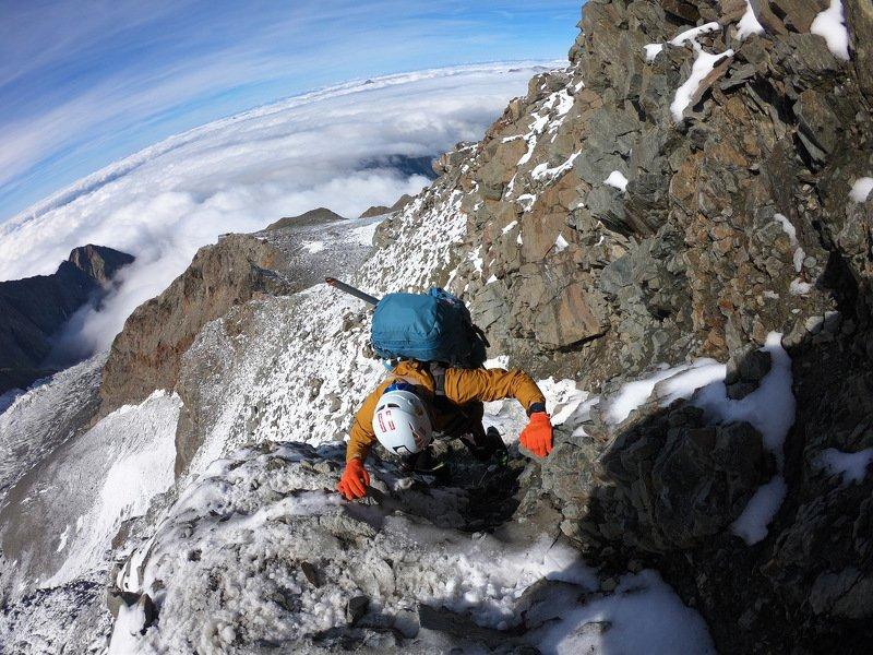монблан, восхождение, грандкулуар, gopro, альпы, alps, montblanc Гранд Кулуарphoto preview