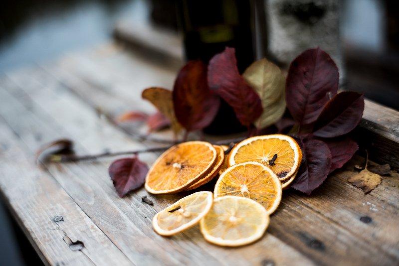 осень, апельсины, озеро, листья, рыжий, желтый, вода, мост Осенний глинтвейнphoto preview
