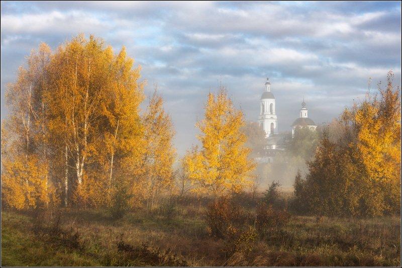 россия, владимирская обл, филипповское Среди деревьев жёлтыхphoto preview