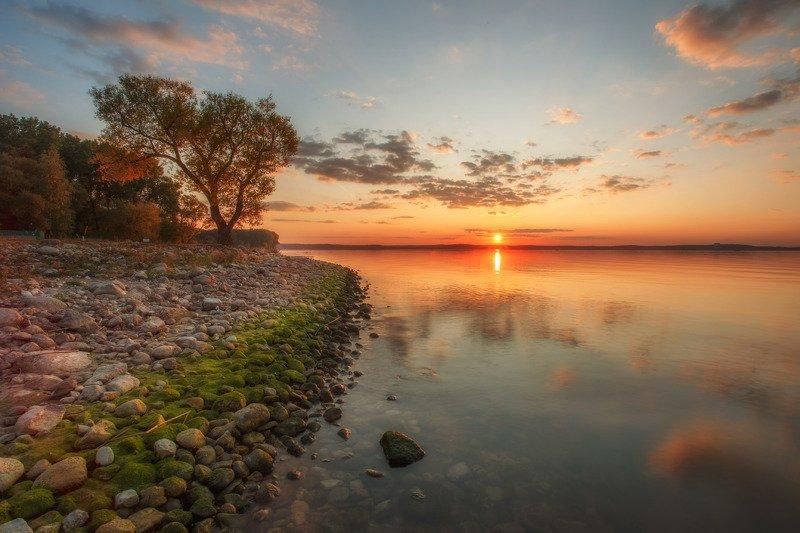 осень, минск, беларусь, минское море, закат, провожая лето Провожая летоphoto preview