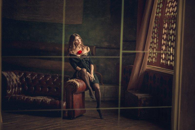 зеркало, искажения, преломления, модель, роза, отражения, mirror, reflections По ту сторону зеркал...photo preview