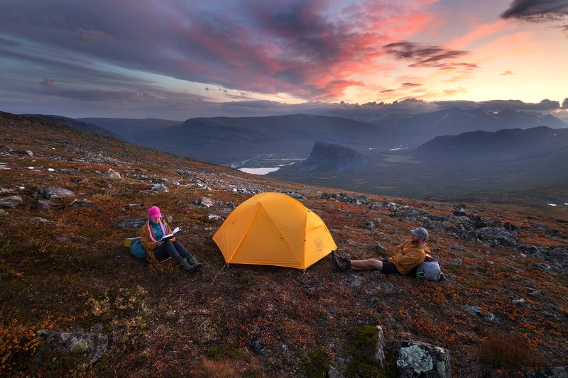 сарек, лапландия, арктика, палатка, вечер, sarek, lapland, laponia, tent Вечера в Арктикеphoto preview