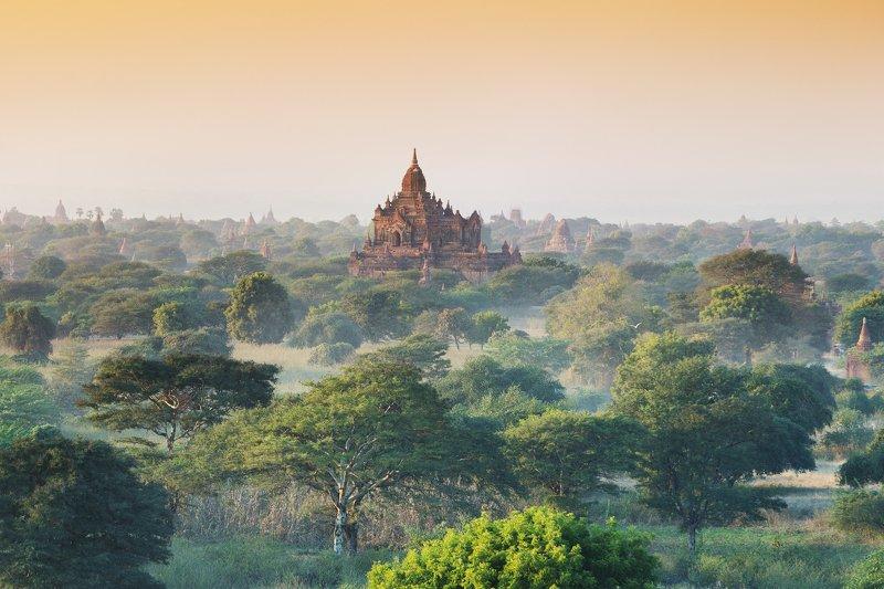 баган, мьянма, бирма, город, храм, пагода, ступа, myanmar, burma, temple, stupa, bagan Золото Баганаphoto preview