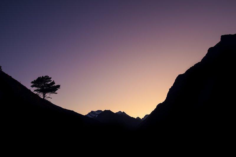 Булунгу, кавказ, горы, чегем, пейзаж, закат Чегемское ущельеphoto preview