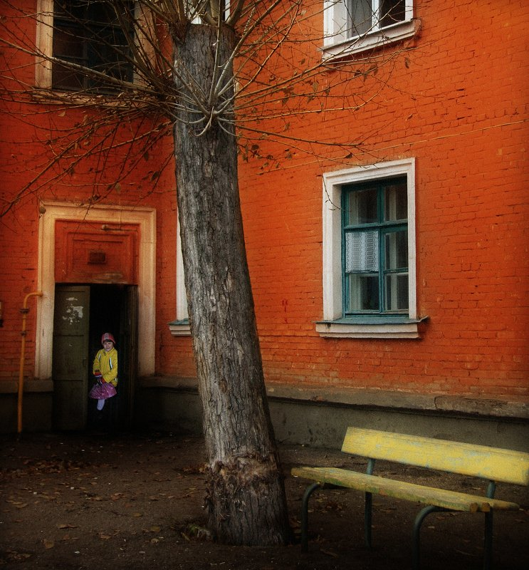 город,двор,дома,старый,уютный,девочка Дворик,которого уже нет 2photo preview