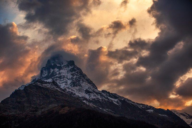 кчр,домбай,закат,горы ,белалака́я Белалака́я !photo preview