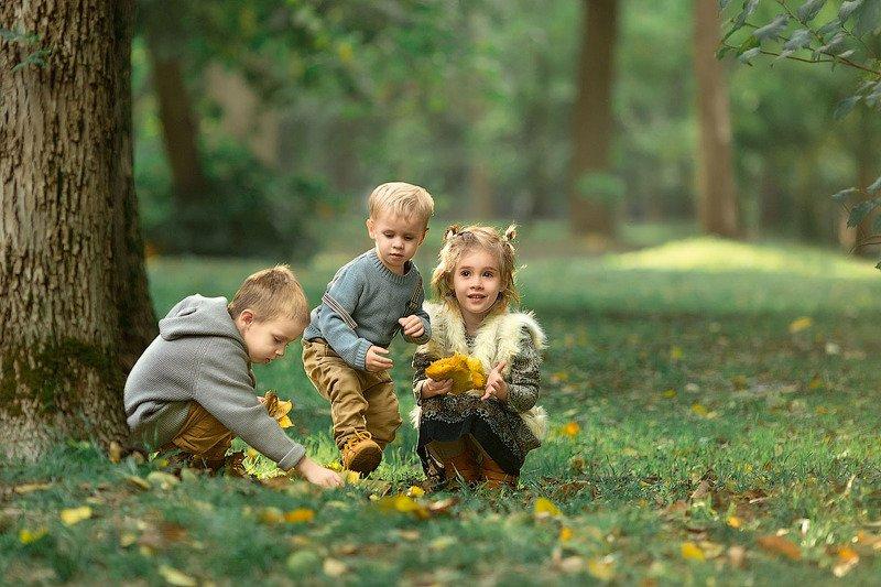 зеркальный фотоаппарат canon markiii, прогулка, фотосессия, детский и семейный фотограф, лес, мальчики и девочки, малыши, маленькие дети, закат, лето, улыбка, радость, эмоции, осень,счастье, восторг Вместе веселее!photo preview