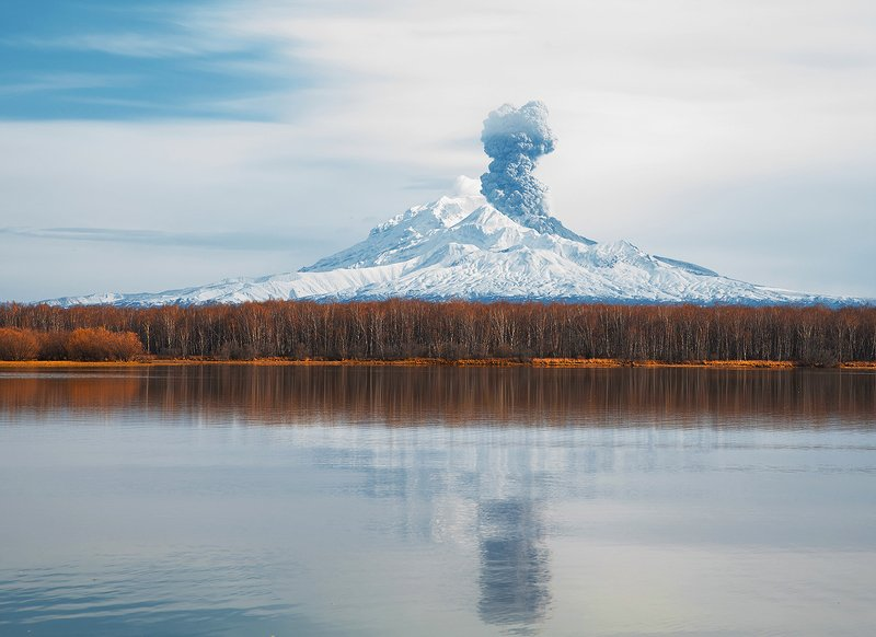 камчатка вулкан шивелуч Выбросphoto preview