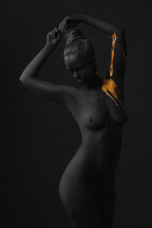 #black and gold #art #nude art #nude #girls #body art black and goldphoto preview