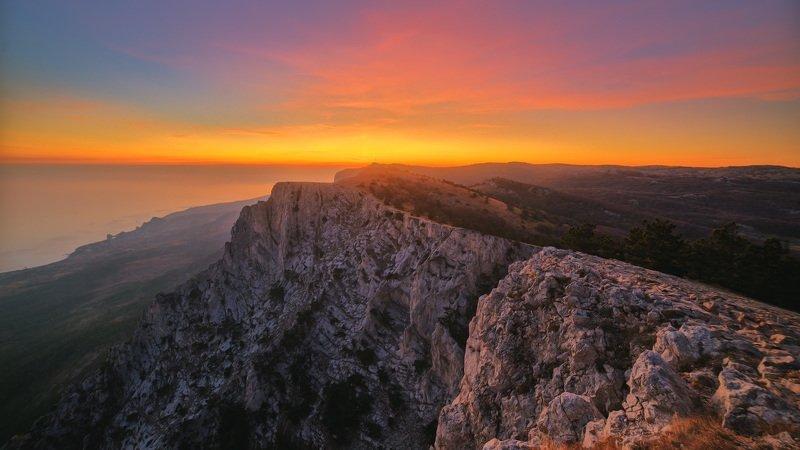 ай-петри, крым, горы, закат, hdr Закат на Ай-Петриphoto preview