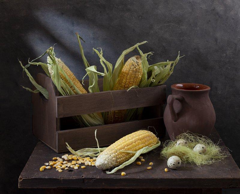 натюрморт Натюрморт с кукурузойphoto preview