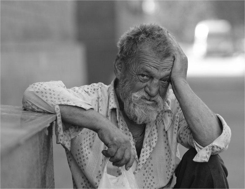 мужчина, лица, люди, портрет, жанровый портрет Потерявшийся странникphoto preview