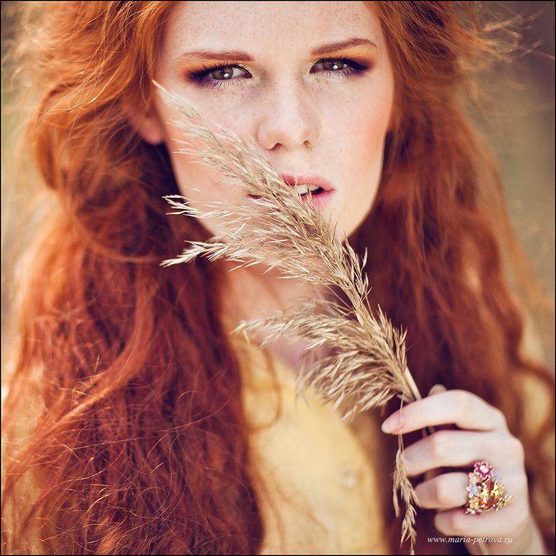 портрет, рыжая Алинаphoto preview