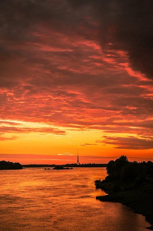 #пейзаж #река #закат #небо #лето #природа Summer sunsetphoto preview