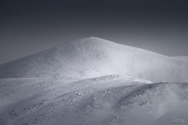 железная гора, кандалакша, кольский полуостров, зима, абстракция, горы, линии, чб, монохром Железная гораphoto preview