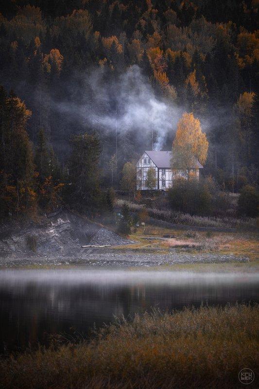 карелия, осень, ладога, туман Поздняя осень на заливе Кирьявалахтиphoto preview