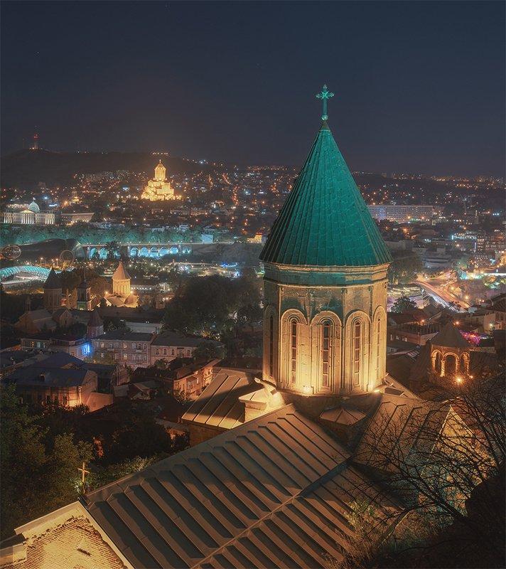 тбилиси, старый тбилиси, грузия, ночной город Ночной Тбилисиphoto preview