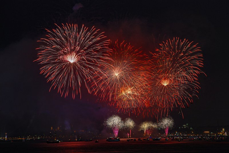fire works,night,bosphorus,istanbul, fireworksphoto preview