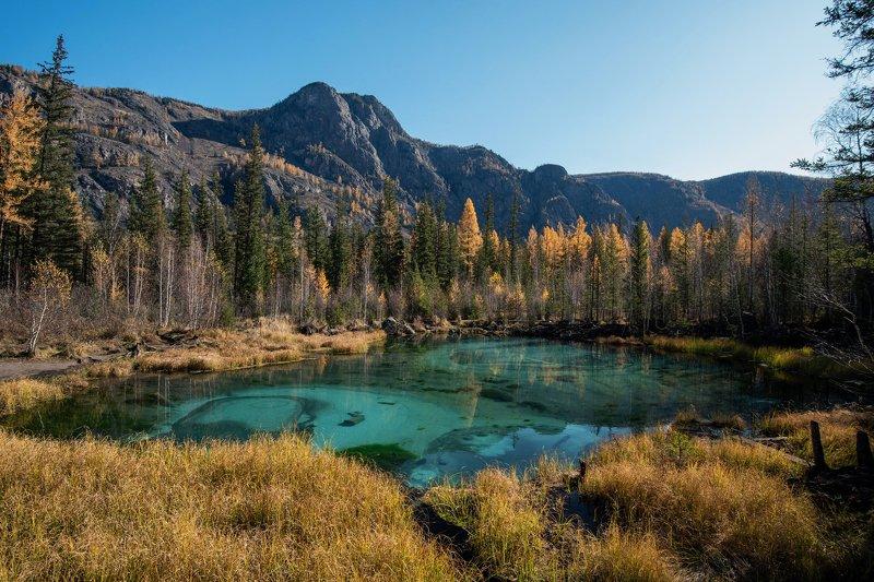 горы, озеро, осено Глаза Алтаяphoto preview