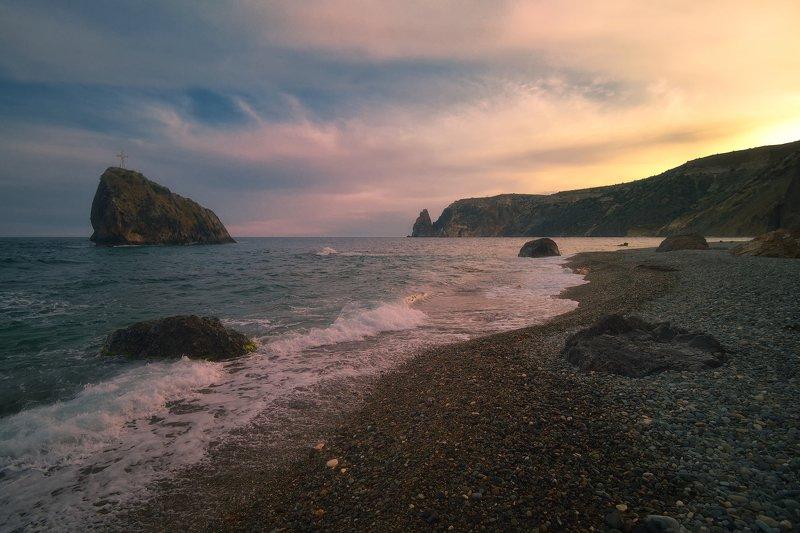 крым, фиолент, вечер, закат, море, горы Вечеромphoto preview