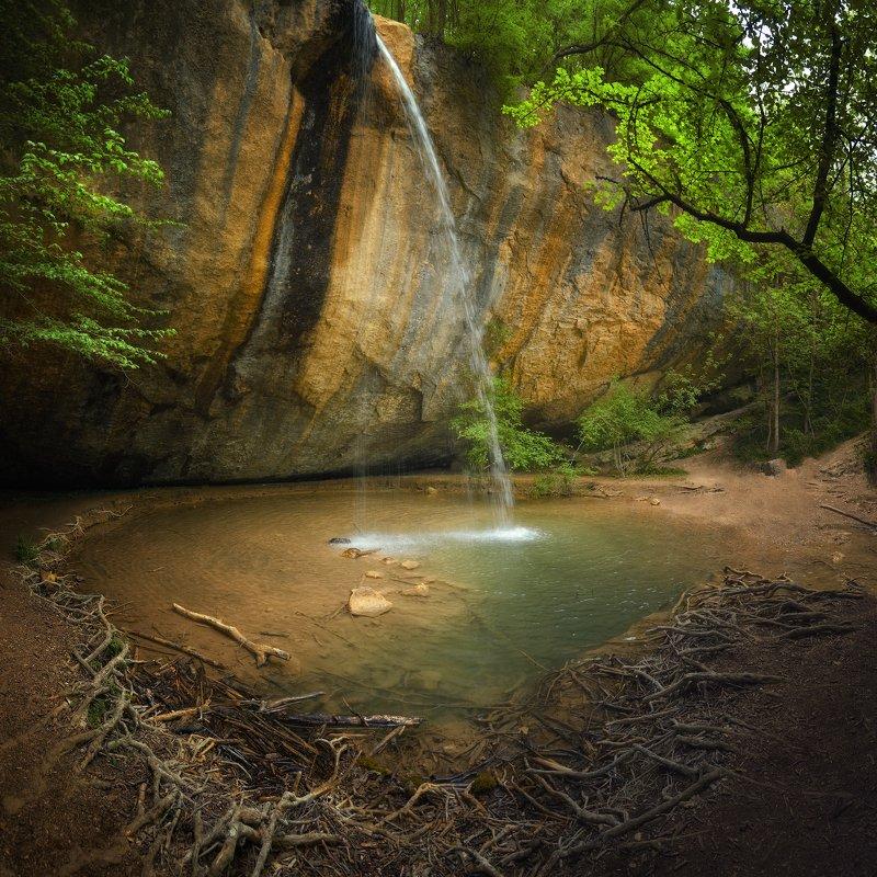 крым, природа, весна, горы, водопад Водопад \