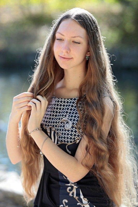 портрет, осень Верунькаphoto preview