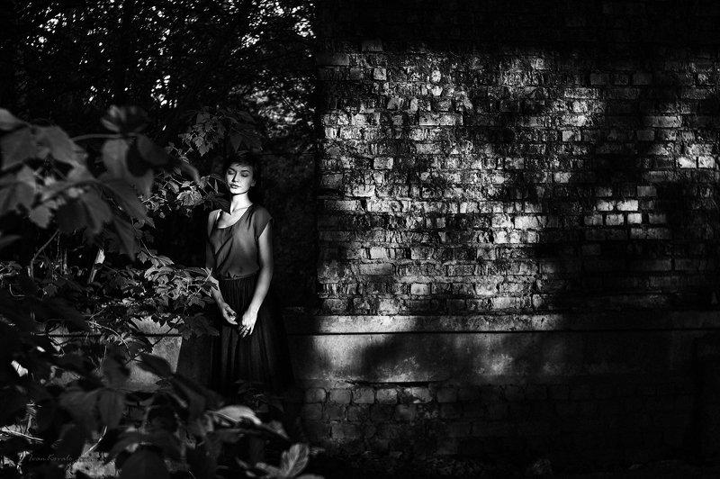 портрет, лицо, девушка, сад, молодость, разрушение photo preview